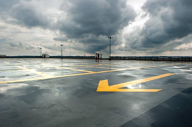 Rainy Parking stock photo