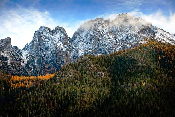 Rainy Pass, North Cascades, Washington stock photo