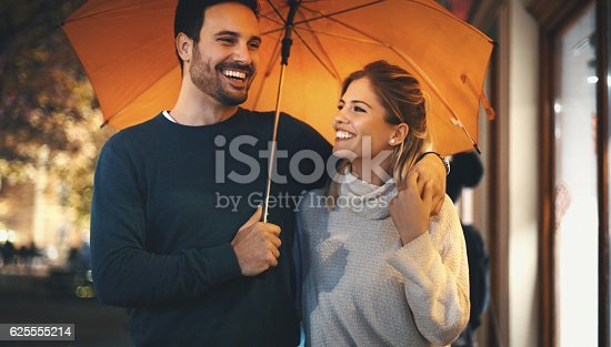 istock Rainy romantic night. 625555214