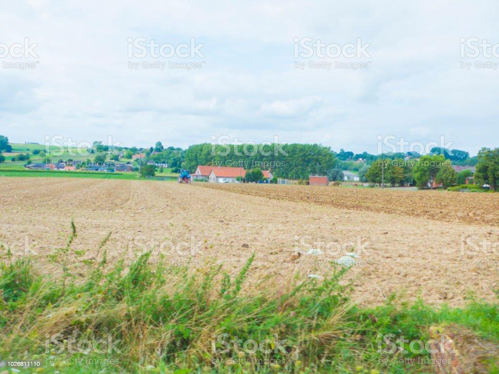 Cielo Lluvia Colinas Vista Panorámica Rural De Campo Desde Un