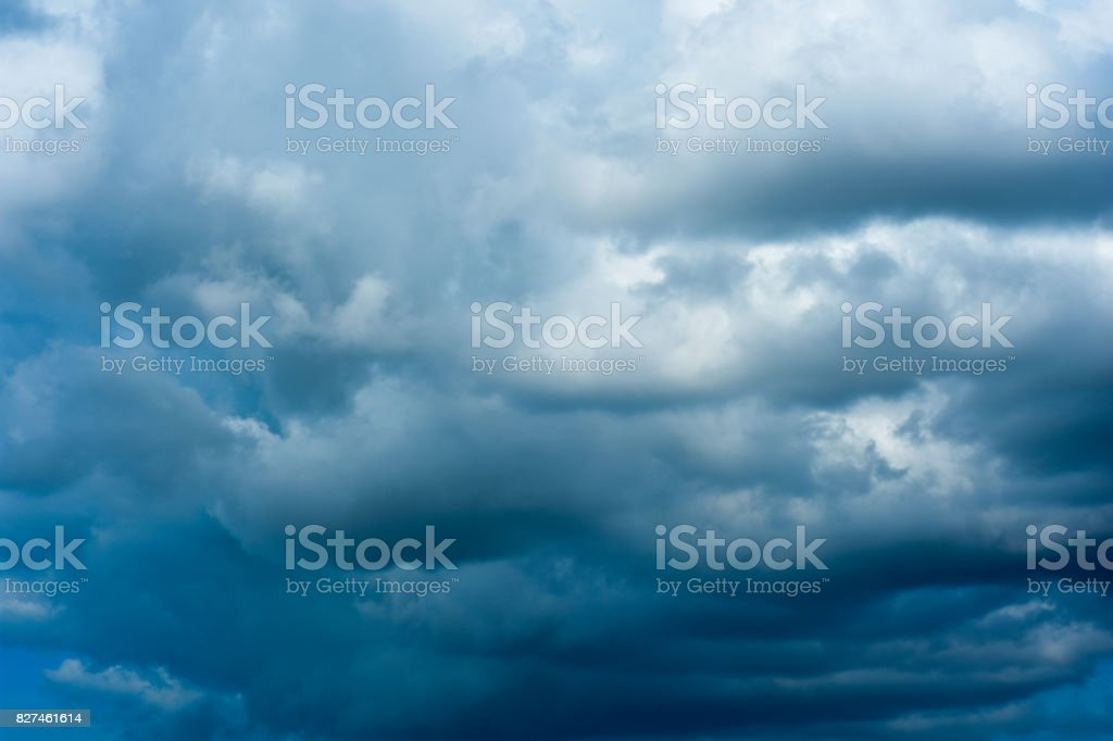 Rainy sky, sky with lots of clouds. stock photo