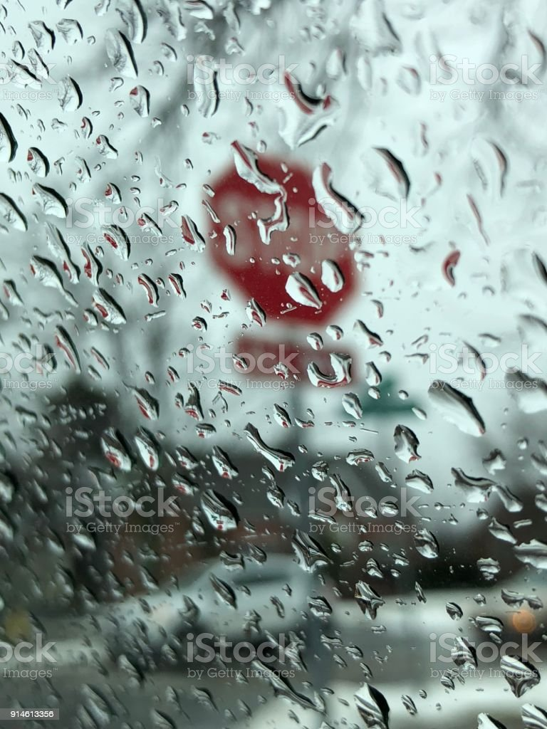 Rainy stop stock photo