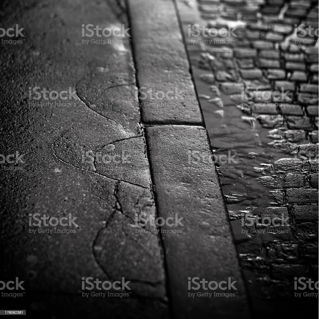 rainy street royalty-free stock photo