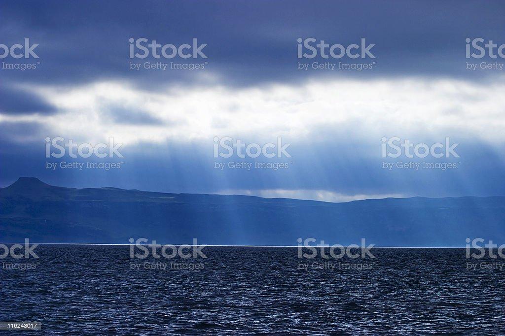 Rainy weather at the coastline royalty-free stock photo