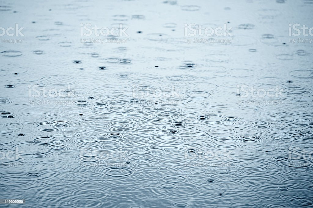 Rainy weather stock photo