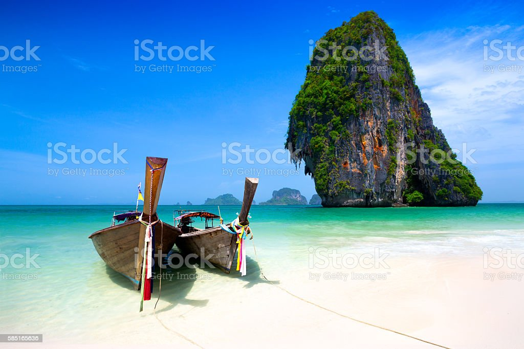 Rairay beach stock photo