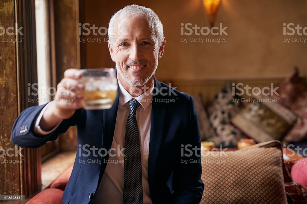 Raise a glass with me... stock photo