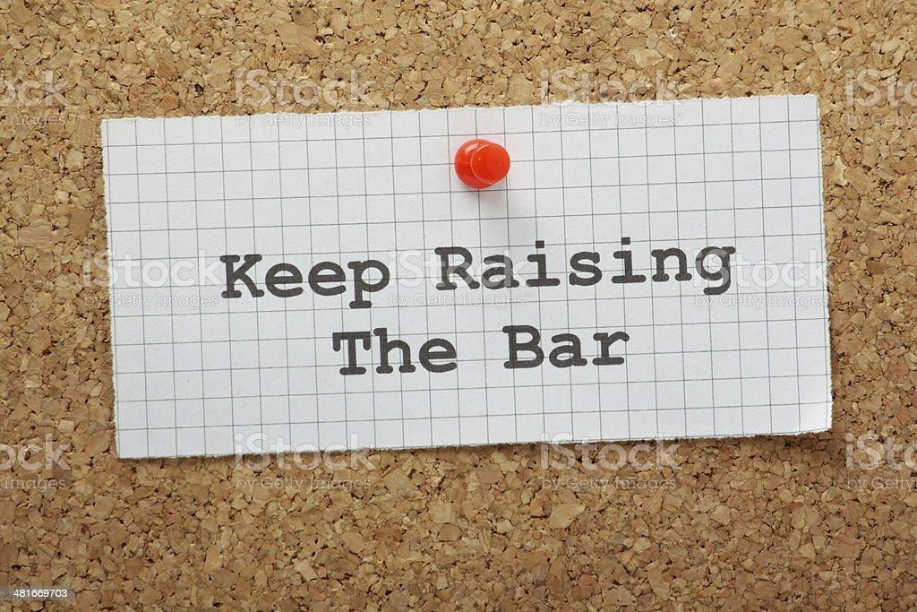 Raise The Bar stock photo