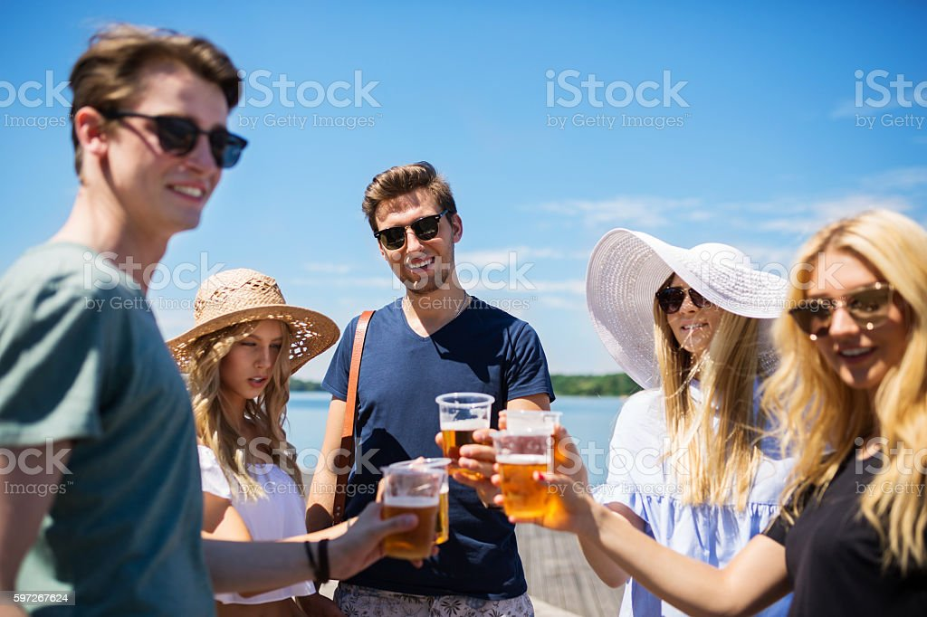 Raise the glass to us! royalty-free stock photo