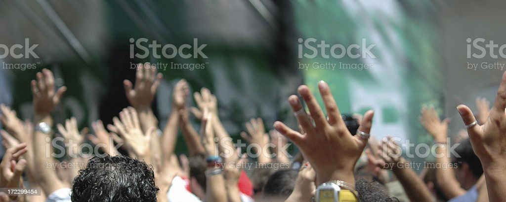raise your hands! royalty-free stock photo