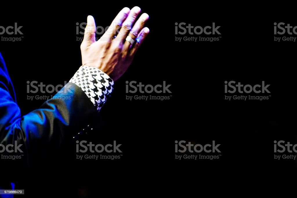 Raised Hand stock photo