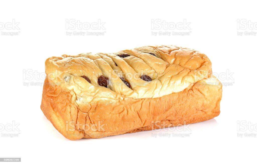 Raisin bread on white background. Lizenzfreies stock-foto