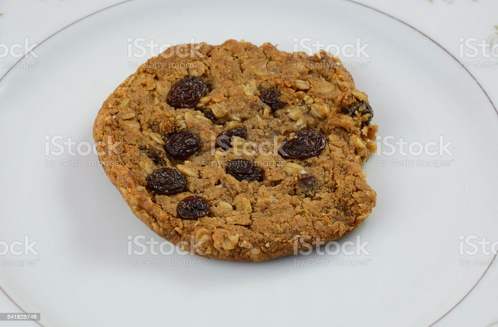Raisin cookie stock photo