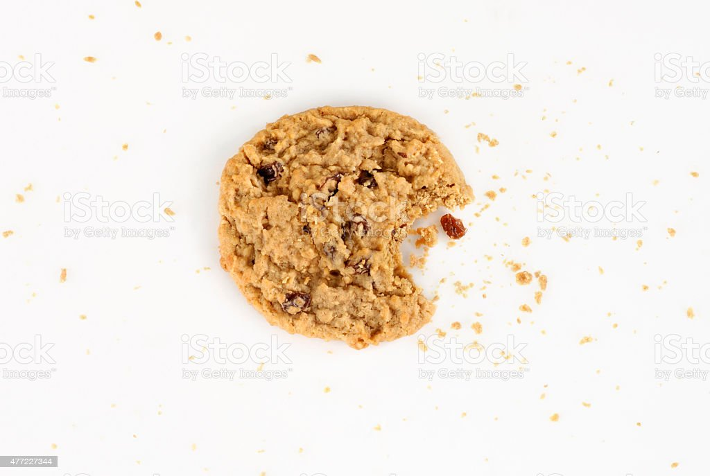 Raisin Oatmeal Cookie stock photo