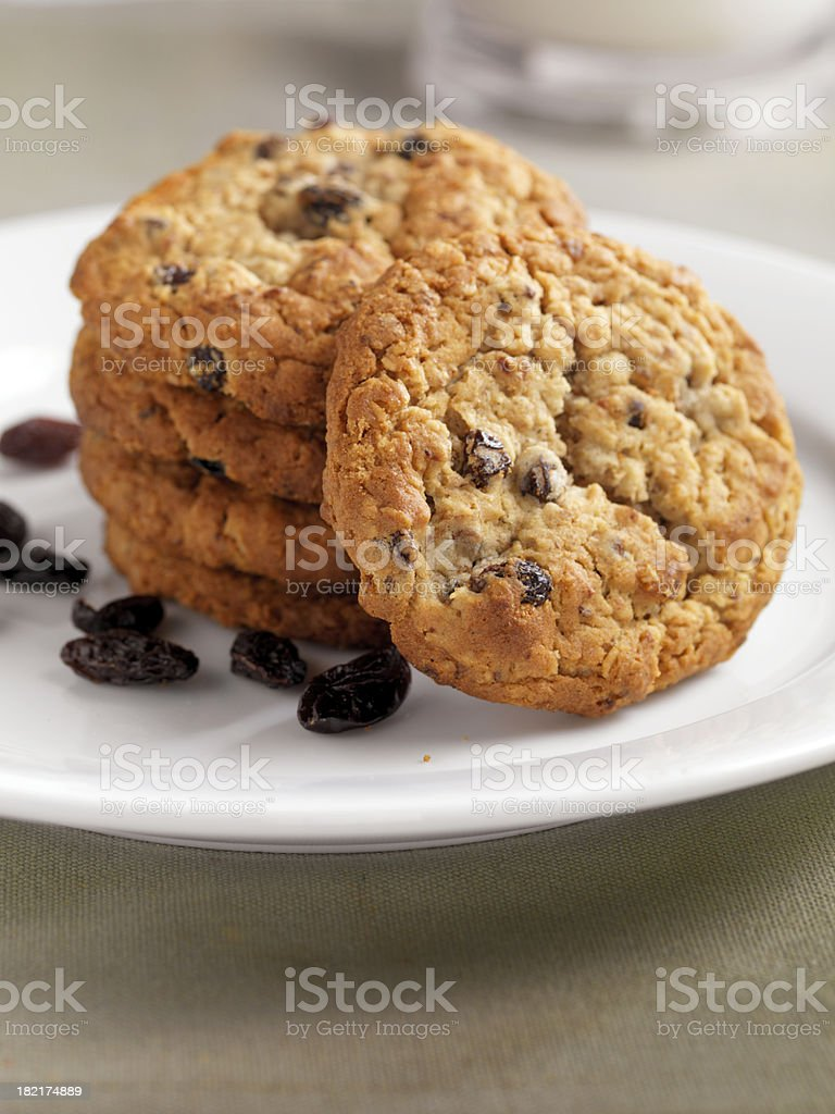 Raisin Oatmeal Cookies royalty-free stock photo