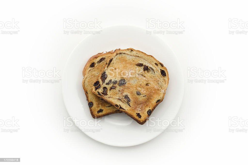 raisin toast stock photo