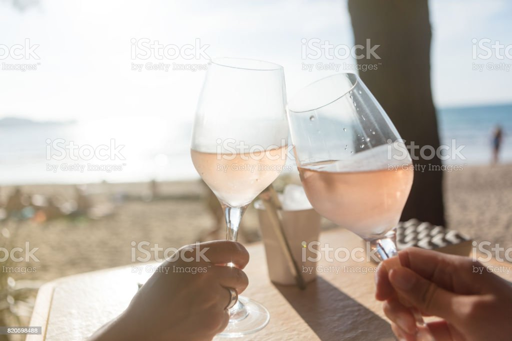 Raising a glass stock photo