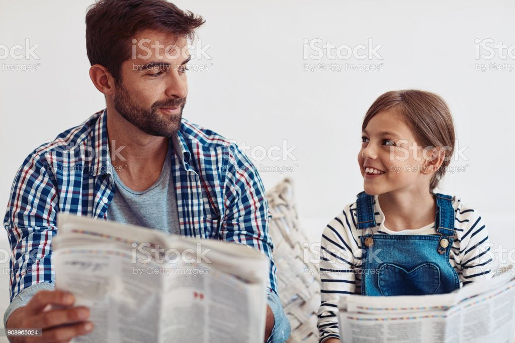Raising a happy and confident little girl! stock photo