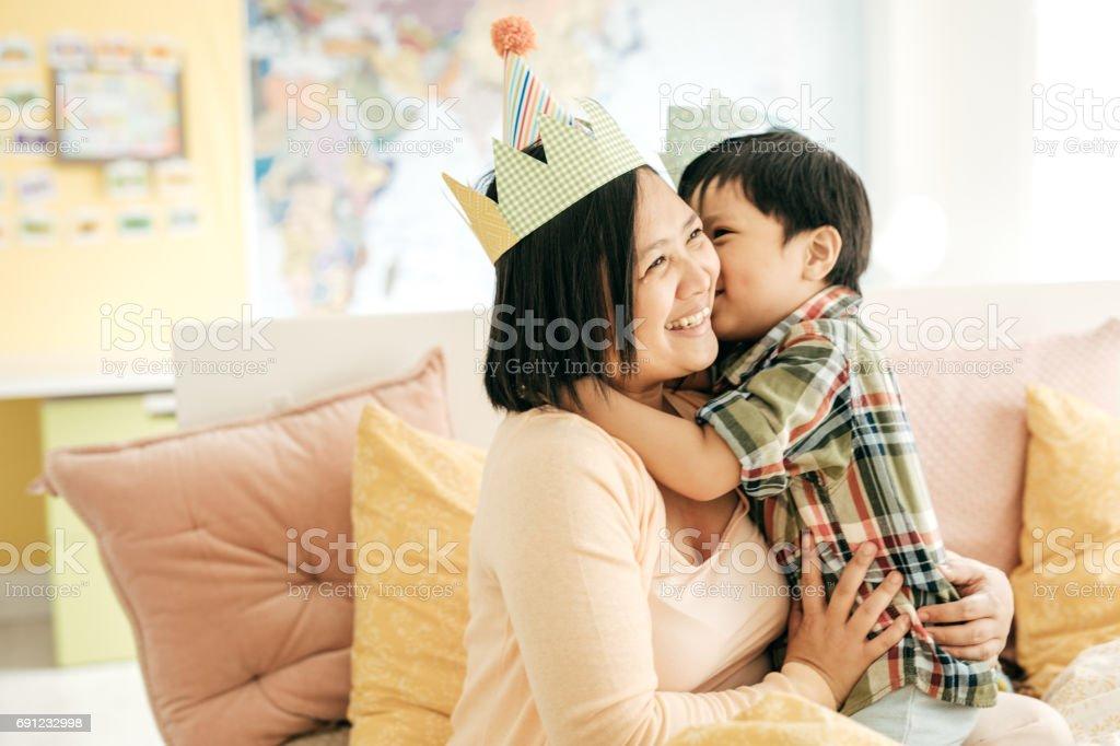 Raising a happy child stock photo