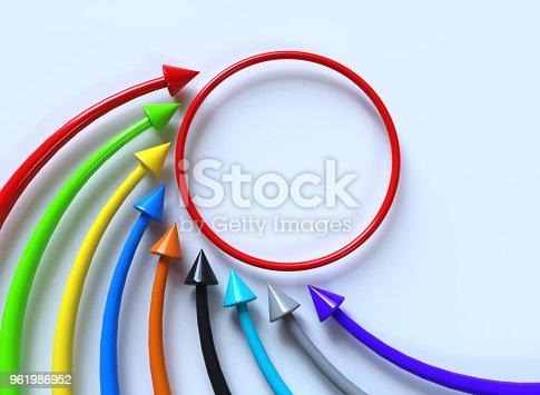 istock Raising color arrows 961986952