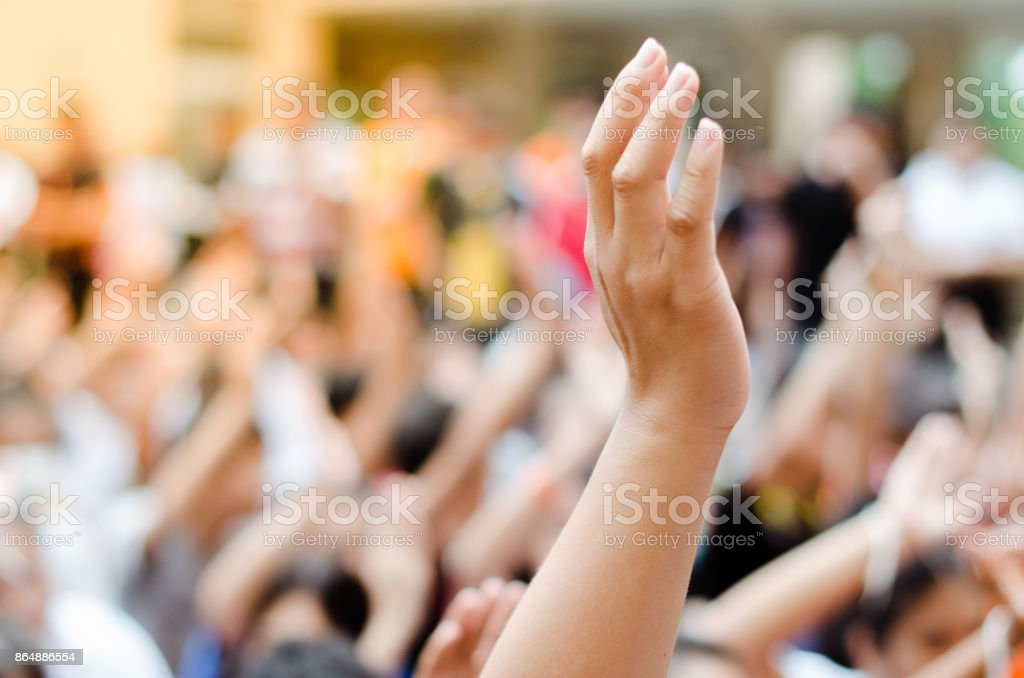 Raising Hands stock photo