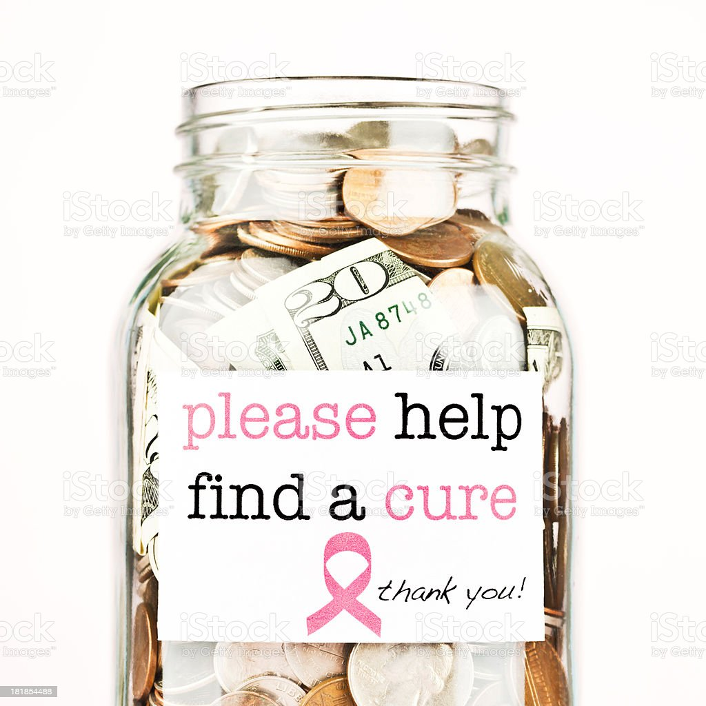 Raising Money for Breast Cancer Research royalty-free stock photo