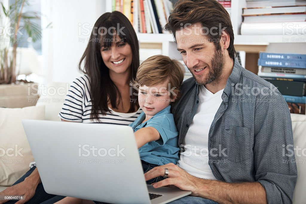 Raising the digital generation stock photo