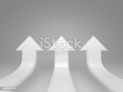 istock Raising white arrows concept background 185067819