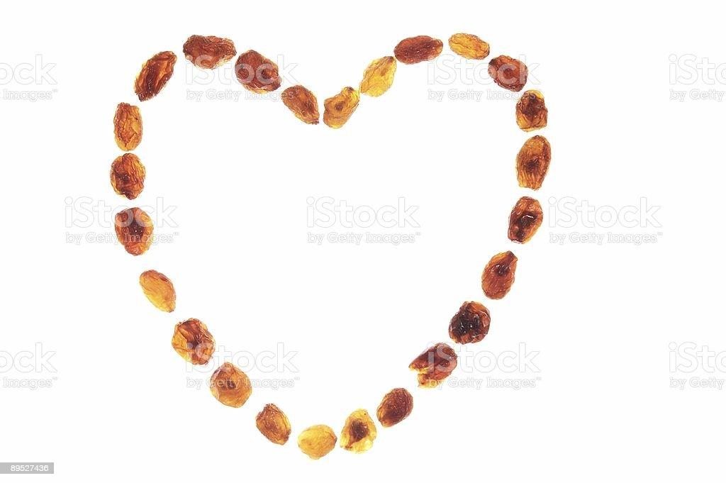 raisins heart royalty-free stock photo