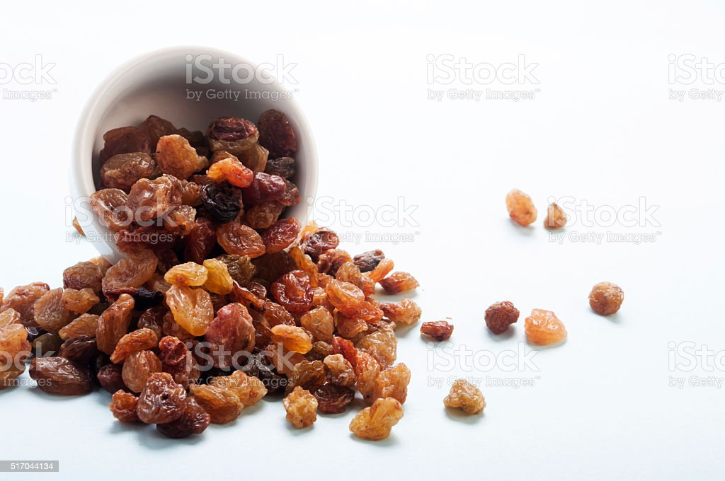 raisins in a bowl stock photo
