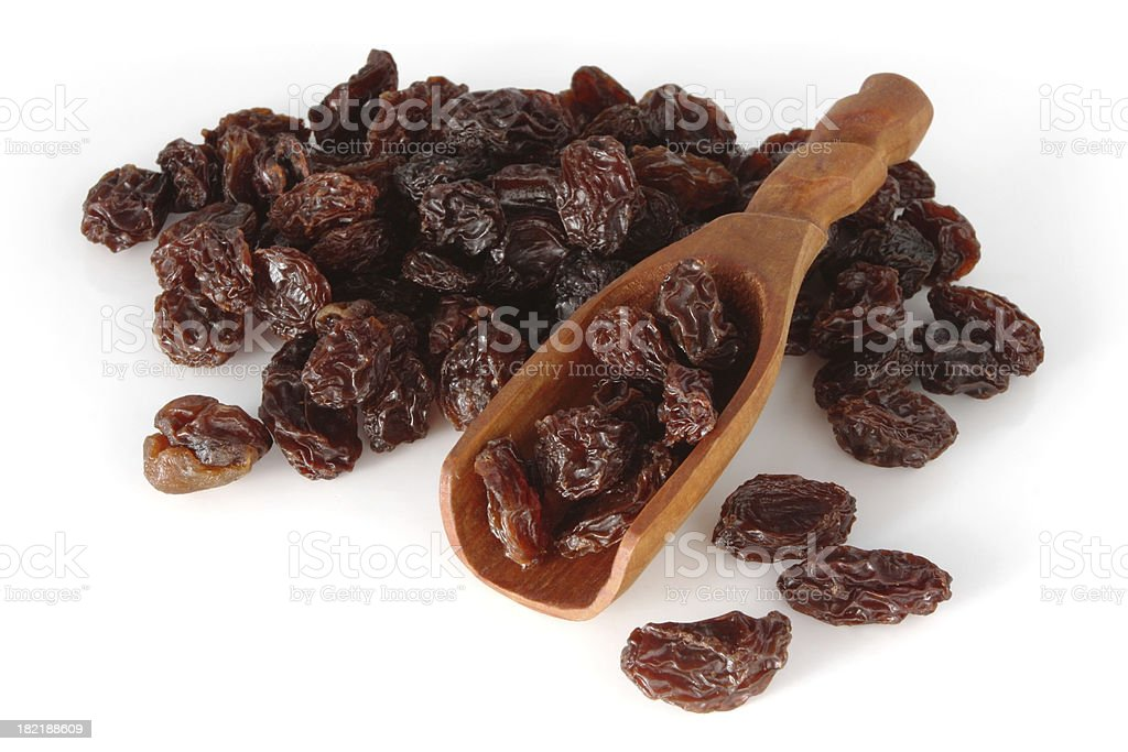 Raisins Isolated on White stock photo
