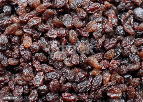 Close up of raisins.  Backgrounds lightbox