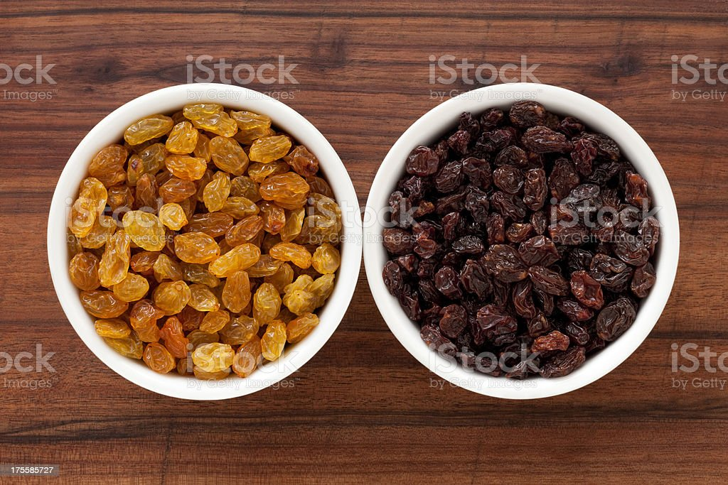 Raisins varieties stock photo