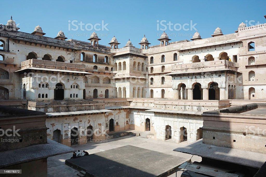 Raj Mahal palace at Orcha ,India,Madhya Pradesh stock photo