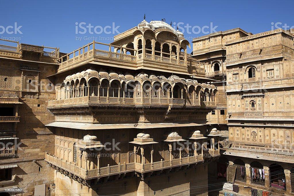 Raj Mahal royal palace of jaisalmer royalty-free stock photo