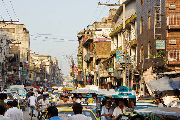 Raja Bazaar in Rawalpindi, Pakistan stock photo