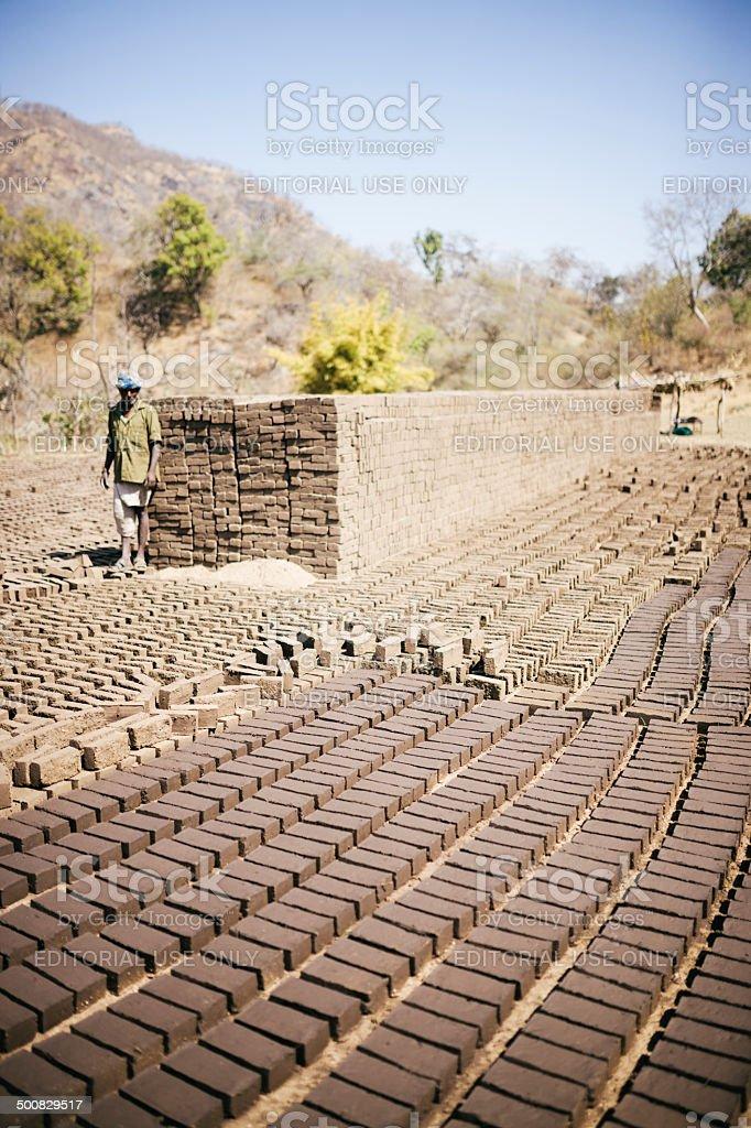 Rajasthan brickworker stock photo