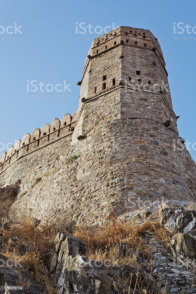 Rajasthan Kumbhalghar Fort Watch Tower stock photo
