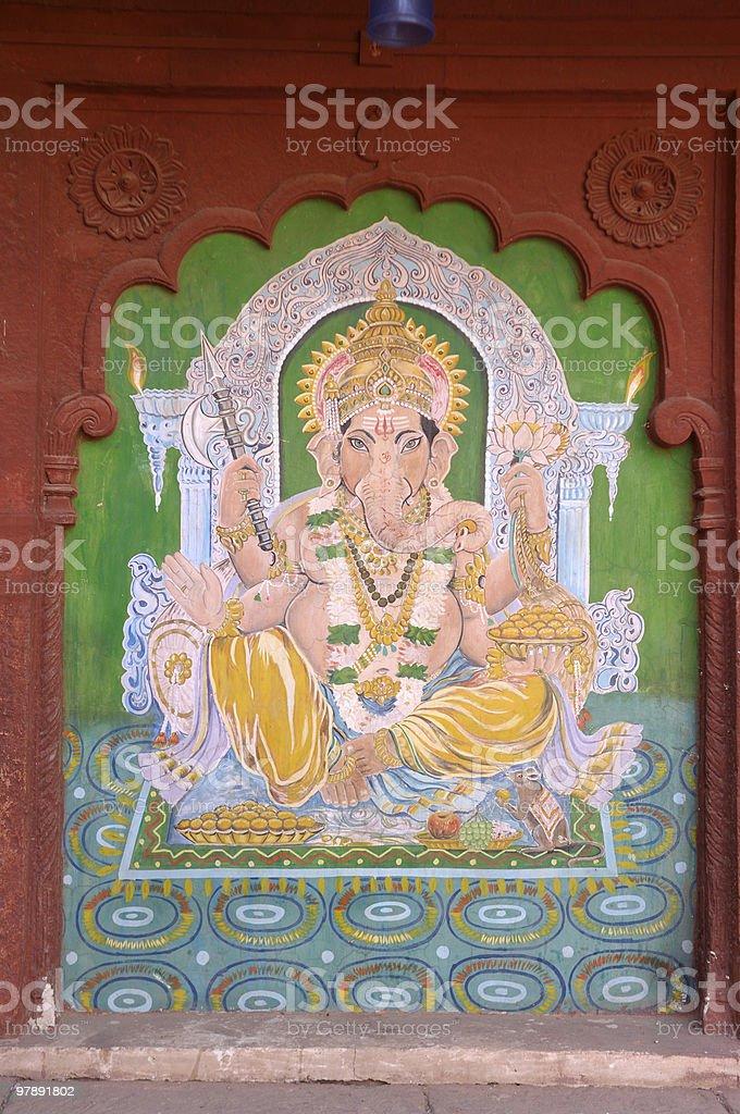 Rajasthan- old fresco royalty-free stock photo