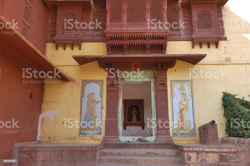 Rajasthan- painting in the palace royalty-free stock photo