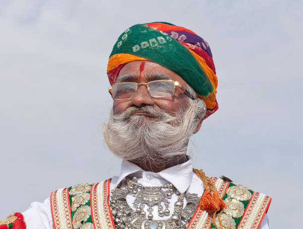 Rajasthani man in traditional clothes. Rajasthan, India stock photo