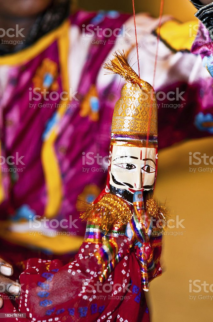 Rajasthani puppets royalty-free stock photo
