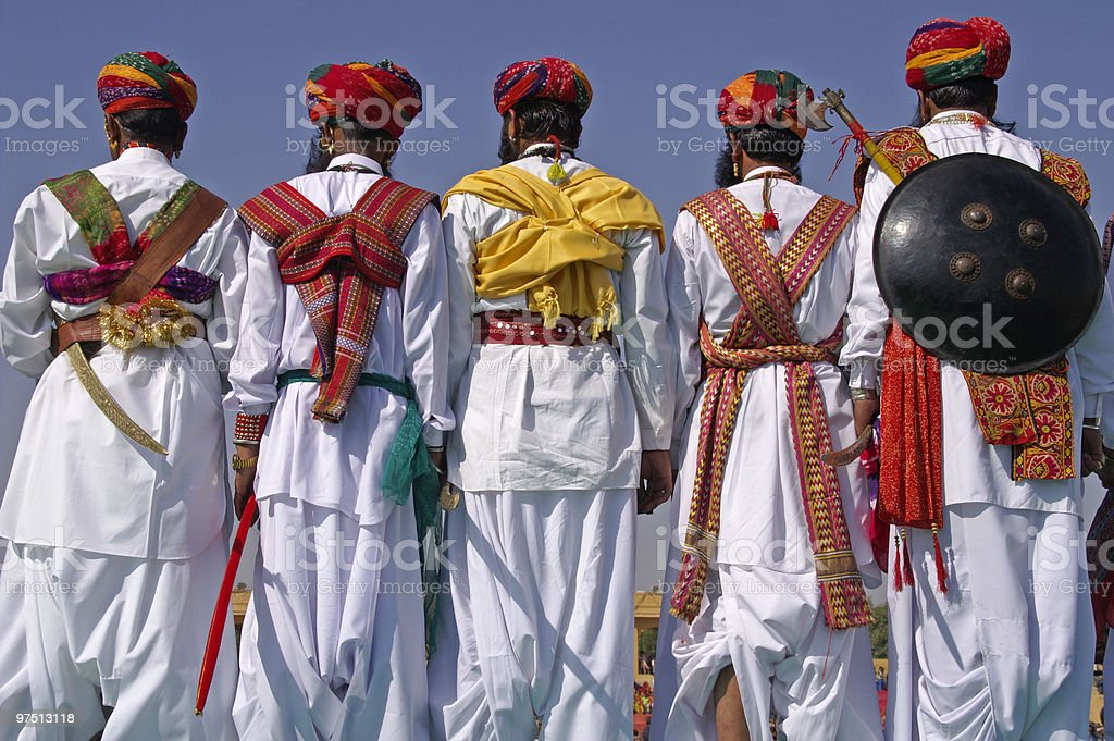Rajasthani Traditional Dress royalty-free stock photo