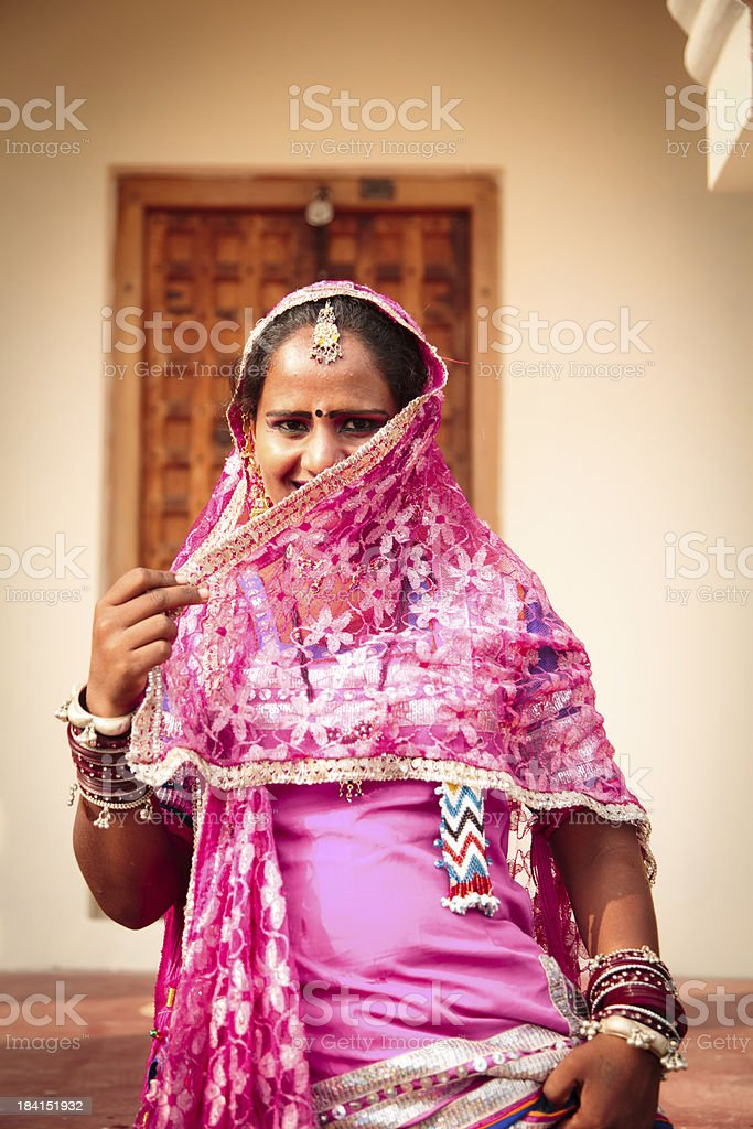 2ea9e4e41c Adult, Adults Only, Asia, Asian and Indian Ethnicities, Building Exterior.  rajasthani woman in traditional dress ...