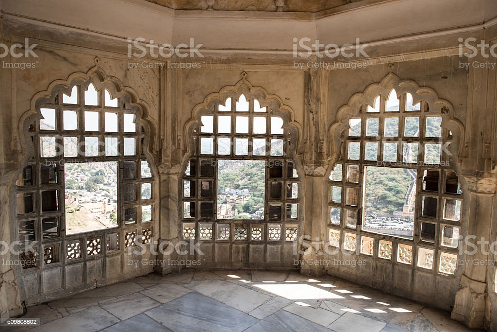 Rajput Palace in Rajasthan stock photo