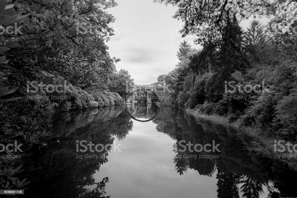 Rakotzbrücke stock photo