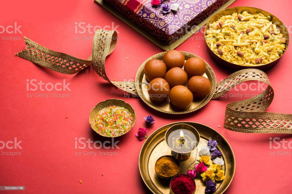 Raksha Bandhan Festival Conceptual Rakhi Made Using Plate Full Of