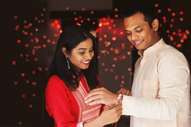 Raksha Bandhan festivities stock photo