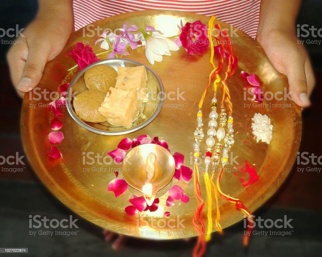 Raksha Bandhan Plate Decoration Stock Photo More Pictures Of