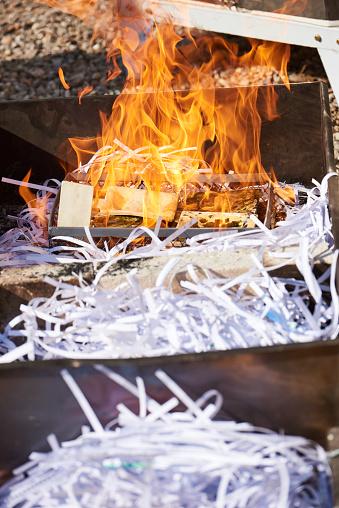 Pieces of raku ceramics during flame glazing process, also known as Raku Firing Process.